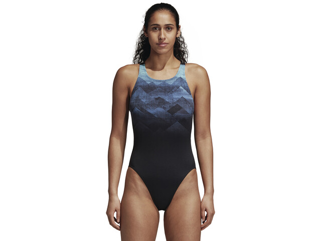 adidas Placed Print Svømmedragt Damer blå | swim_clothes